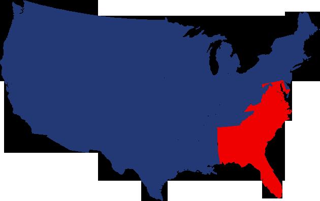 Serving East Coast of USA